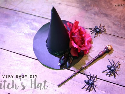 Halloween Crafts; Easy Witch's Hat