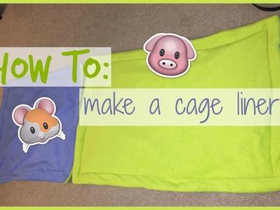 How to: cage liner.lap pad │Alexandriasanimals