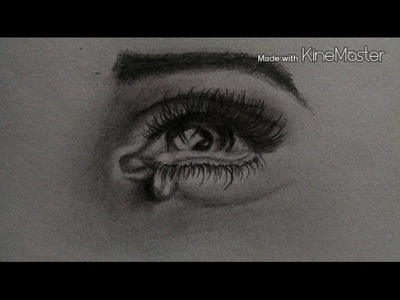 How to draw a crying eye in just 6 mins!