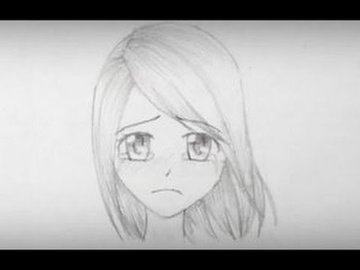 How to Draw a Sad Manga Girl Face