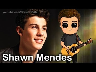 """How to Draw Chibi Shawn Mendes step by step """"Stitches"""" song"""