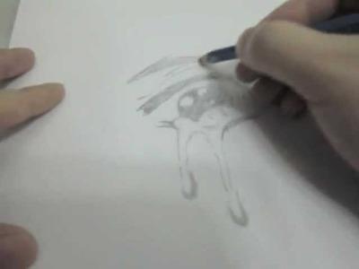 How to draw teary tear  crying manga eyes