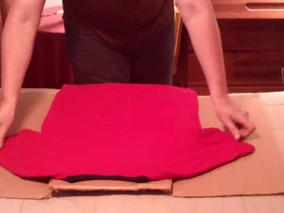 How To Fold T Shirts Using A Cardboard Box 001