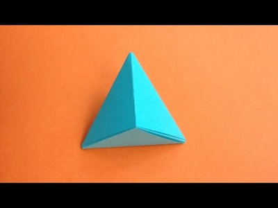 How to make a paper Pyramid. .