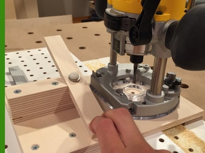 How to Make a Shelf Pin Hole Drilling Jig