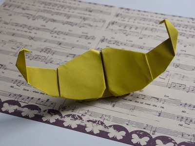 How to make paper  mustache origami
