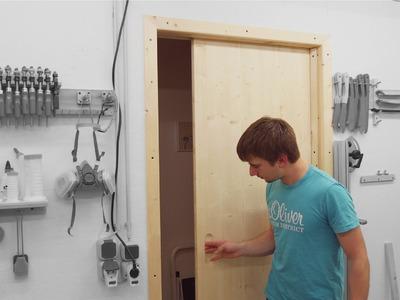 Installing a Sliding Door for the Workshop
