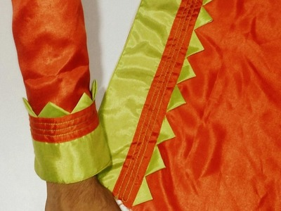 Kameez Sleeves Designs Cutting & Stitching.Suit baju Cutting and seWing