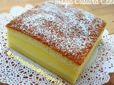 Magic Custard Cake 魔术卡士达蛋糕 by Baking Taitai