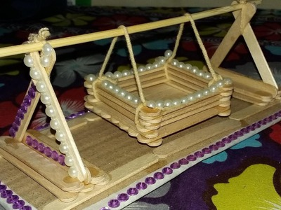 Making a toy Baby Swing with Popsicle Sticks