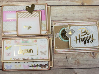 Making Mini ALbum Pages with Project Life Cards