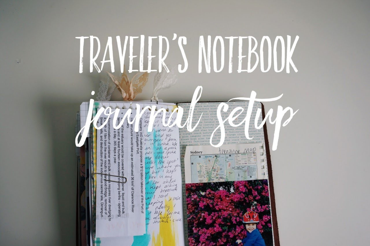 My First Traveler's Notebook - Initial Set Up For Journalling