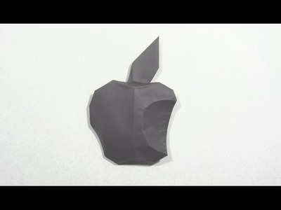 Origami Apple Logo by Oscar Osorio | Cómo hacer origami de papel logo apple