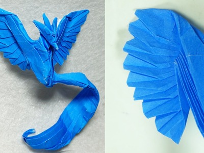 Origami Articuno's wings tutorial in details (Henry Phạm)