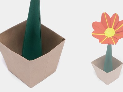 ORIGAMI FLOWER POT - Time-lapse (Jo Nakashima)