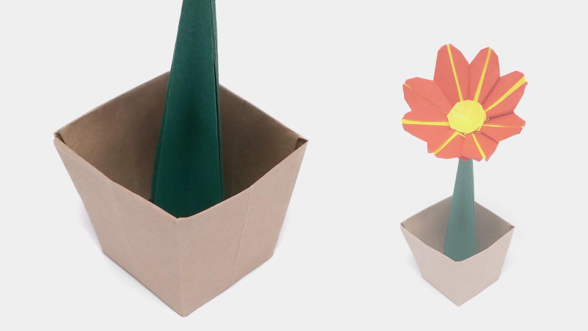 origami flower pot time lapse jo nakashima. Black Bedroom Furniture Sets. Home Design Ideas