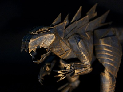 Origami Godzilla 折り紙 ゴジラ 摺紙哥斯拉 (Kade Chan) - Not Tutorial -
