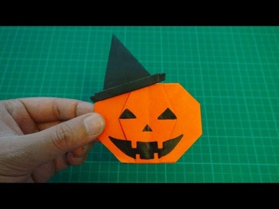 Origami 【Halloween/jack o'lantern in a in a witch hat】