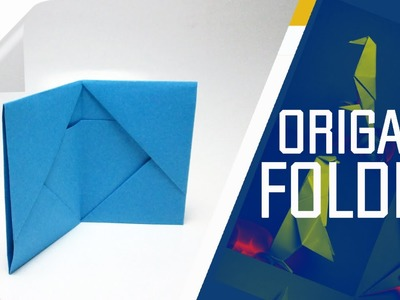 Origami - How To Make An Origami Folder. Wallet