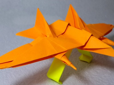 Origami paper Jet fighter that flies tutorial (Henry Phạm)