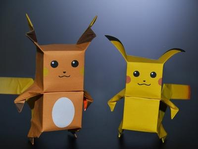 Origami: Pikachu & Raichu - Instructions in English (BR)