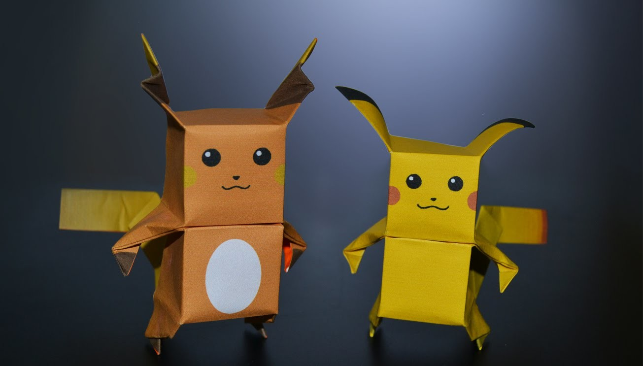 Origami: Pikachu & Raichu - Instructions in English (BR)