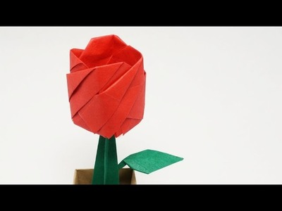 ORIGAMI ROSE IN A POT - Time-lapse (Jo Nakashima)