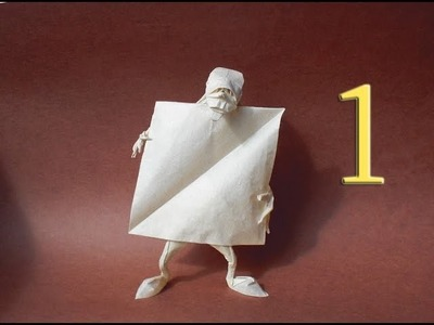 Origami Self-made man (Eric Joisel) Tutorial Part 1