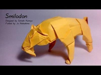 Origami Smilodon (Satoshi Kamiya) - not a tutorial