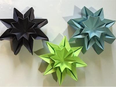 Origami STAR FLOWERS - wall decor