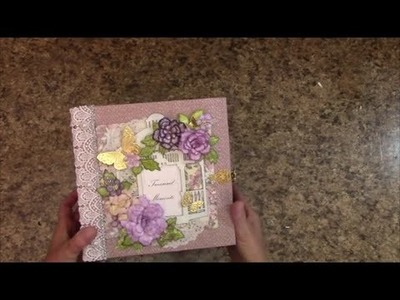 PART 2 TUTORIAL 8 X 8 MINI ALBUM WITH MULBERRY KISSES PAPER - DESIGNS BY SHELLIE