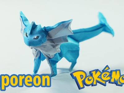 POKEMON - Origami Vaporeon tutorial (Henry Phạm)