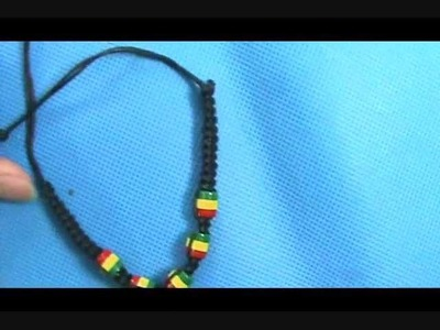 Reggae rasta handmade hemp macrame bracelet wristband wholesalesarong.com