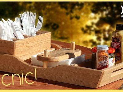 Summer Picnic Tray. Wow! Napkins Won't Blow Away!
