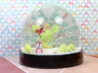 Watch me Craft Xmas Stitch Bunny Snow Globe