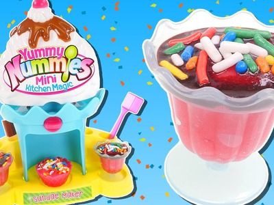 Yummy Nummies Mini Sundae Maker | Making Ice Cream Flavored Sweet Treats with DCTC