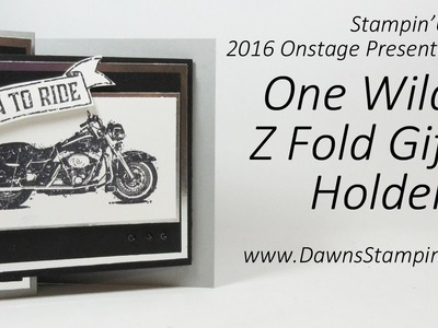 Z Fold Gift Card Holder #1 One Wild Ride Million Dollar Stamp set from Stampin'Up!
