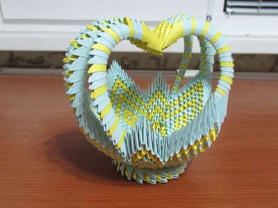 3D Origami Large Basket Tutorial