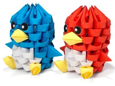 3D Origami Tiny Bird (smaller version)