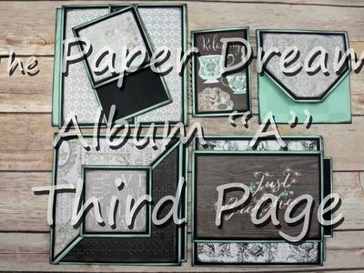 """6x6 Mini Album Tutorial """"Third Page"""" in """"Album A"""""""