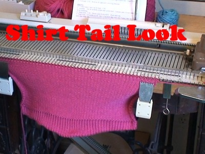 Adding a Shirt Tail look to a sweater back