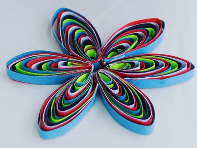 Awesome Colorful Quilling Flowers Using Comb By SrujanaTV