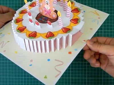 Birthday Cake Pop Up Card Tutorial