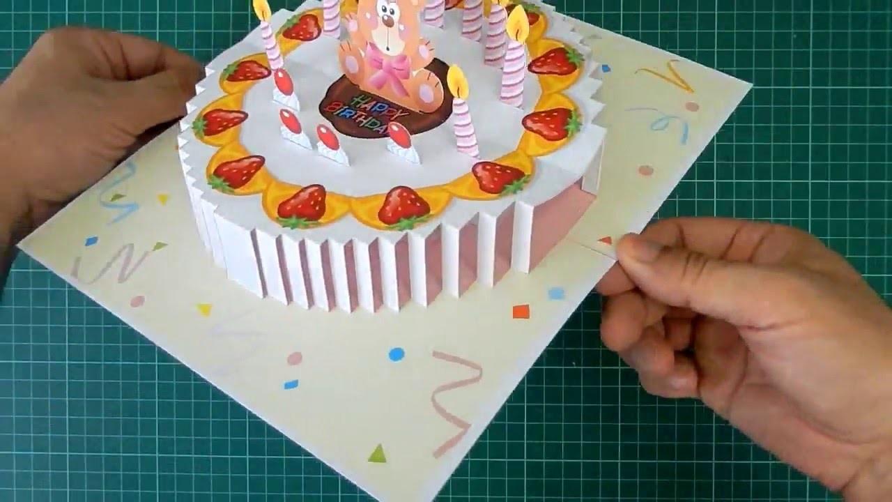 Торт открытка своими руками видео