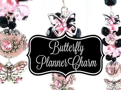 Butterfly Beaded Purse.Planner Charm!