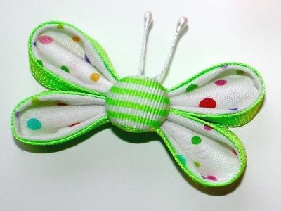 Butterfly Ribbon Sculpture - Kanzashi Tutorial #7