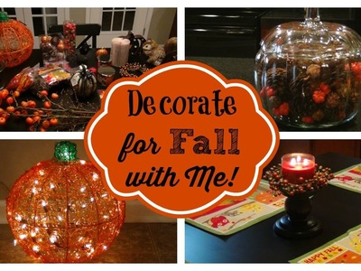 Countdown to Fall Episode #4:  Decorate for Fall with Me & Fall Home Tour!