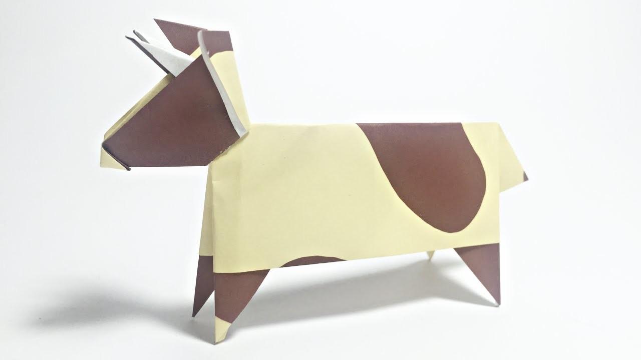 cow origami tutorial animals origami