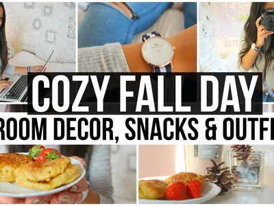 Cozy Fall Day: Room Decor, Snacks & Outfit