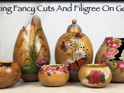 Creating Fancy Cuts and Filigree on Gourds